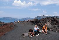 Vulkaninsel Nea Kameni bei Santorin (Santorini), Griechenland, Europa