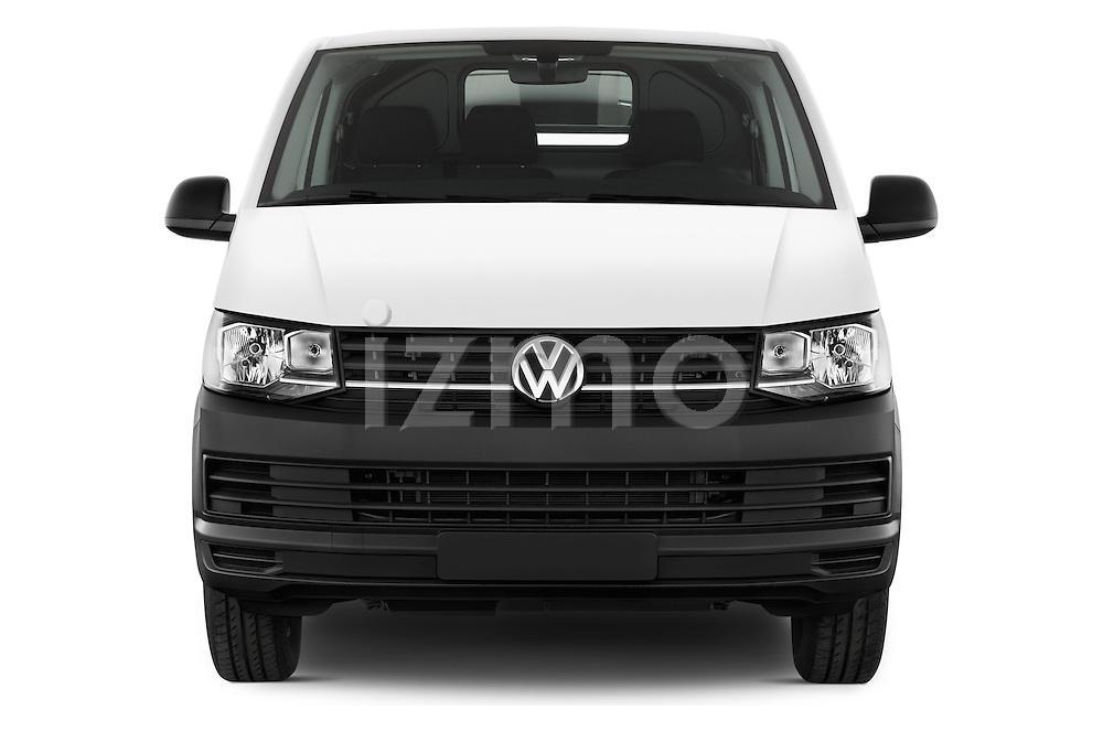 Car photography straight front view of a 2016 Volkswagen Transporter-Furgon - 4 Door Cargo Van Front View