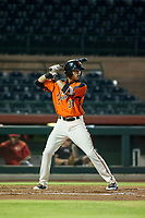 AZL Giants shortstop Francisco Medina (37) at bat against the AZL Reds on August 12, 2017 at Scottsdale Stadium in Scottsdale, Arizona. AZL Giants defeated the AZL Reds 1-0. (Zachary Lucy/Four Seam Images)