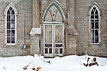 The abandoned Methodist church in Randolph Center, Randolph, VT, USA