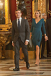 Pablo Casado and Isabel Torres attends to Sapnish National Day palace reception at the Royal Palace in Madrid, Spain. October 12, 2018. (ALTERPHOTOS/A. Perez Meca)