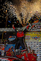 Apr 20, 2006; Phoenix, AZ, USA; Nascar Autozone West Series driver Andrew Myers (44) celebrates with his crew after winning the Casino Arizona 150 at Phoenix International Raceway. Mandatory Credit: Mark J. Rebilas-US PRESSWIRE Copyright © 2006 Mark J. Rebilas..