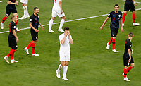 MOSCU - RUSIA, 11-07-2018: Harry MAGUIRE jugador de Inglaterra reacciona durante partido de Semifinales entre Croacia y Inglaterra por la Copa Mundial de la FIFA Rusia 2018 jugado en el estadio Luzhnikí en Moscú, Rusia. / Harry MAGUIRE player of England reacts during the match between Croatia and England of Semi-finals for the FIFA World Cup Russia 2018 played at Luzhniki Stadium in Moscow, Russia. Photo: VizzorImage / Julian Medina / Cont