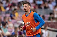 26th September 2021;   Nou Camp, Barcelona, Spain: La Liga football, FC Barcelona versus Levante: Lenglet Barcelona player during the warm up