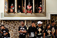 Dressed as Roman soldiers, members of Ambon's devout Christian community take part in a Passion Play, one of the many Holy Week activities each Easter here. The 1999-2002 religious war between Maluku's Christian and Muslim populations, mainly centred on Ambon Island, led to over 5000 deaths and to around 500,000 people become displaced. Destroyed homes and offices, churches and mosques are slowly being either torn-down or renovated.  Urban centres, such as Ambon City, continue to be split along largely sectarian lines, and tensions are never far below the surface. Riots between Christian and Muslim youths erupted in September 2011 and, most recently, June 2012, though luckily simmered down just as quickly, partly due to community leaders learning how to defuse tensions from the earlier, more devastating, conflagration. /Felix Features