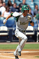 USF Bulls infielder Chad Taylor #29 during a scrimmage against the New York Yankees at Steinbrenner Field on March 2, 2012 in Tampa, Florida.  New York defeated South Florida 11-0.  (Mike Janes/Four Seam Images)