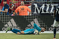 FOXBOROUGH, MA - JULY 27:  Matt Turner #30 after a save at Gillette Stadium on July 27, 2019 in Foxborough, Massachusetts.