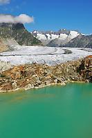 Aletsch Glacier, UNESCO World Heritage Site Jungfrau-Aletsch-Bietschhorn, Goms, Valais, Switzerland, Europe