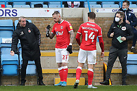 Gillingham Manager, Lee Bowyer, speaks to Marcus Maddison and Conor Washington while there is a break in play during Gillingham vs Charlton Athletic, Sky Bet EFL League 1 Football at the MEMS Priestfield Stadium on 21st November 2020