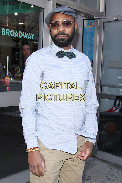 ***FILE PHOTO*** NEW YORK, NY - APRIL 14: Nelsan Ellis seen after an appearance on AOL's Build Series in New York City on April 14, 2017. <br /> CAP/MPI/RW<br /> ©RW/MPI/Capital Pictures