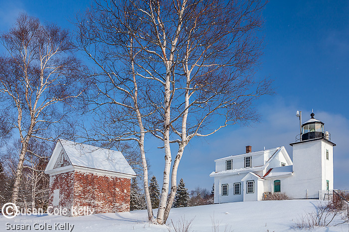 Winter at Fort Point Light in Stockton Springs, ME, USA