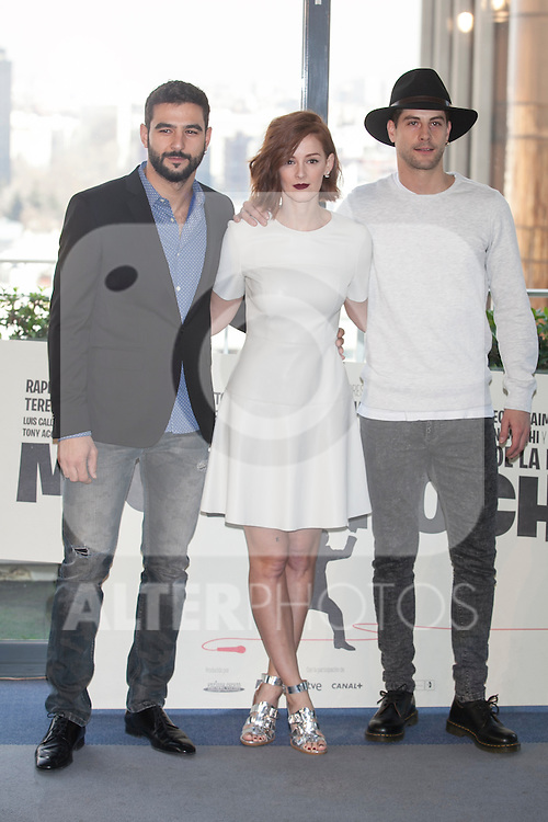 Antonio Velazquez, Ana Maria Polvorosa and Luis Fernandez poses during `Mi gran noche´ film presentation in Madrid, Spain. February 20, 2015. (ALTERPHOTOS/Victor Blanco)