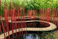 """France, Domaine de Chaumont-sur-Loire, Prés du Goualoup, jardin permanent """"Carré Rond"""" par Yu Kongjiang"""