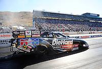 Jul. 29, 2011; Sonoma, CA, USA; NHRA funny car driver Matt Hagan during qualifying for the Fram Autolite Nationals at Infineon Raceway. Mandatory Credit: Mark J. Rebilas-