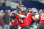 Tampa Bay Buccaneers quarterback Ryan Griffin (4) in action during the pre-season game between the Tampa Bay Buccaneers and the Dallas Cowboys at the AT & T Stadium in Arlington, Texas.