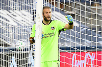 KANSAS, KS - AUGUST 25: Marko Maric #1 of Houston Dynamo lines up the wall during a game between Houston Dynamo and Sporting Kansas City at Children's Mercy Park on August 25, 2020 in Kansas, Kansas.