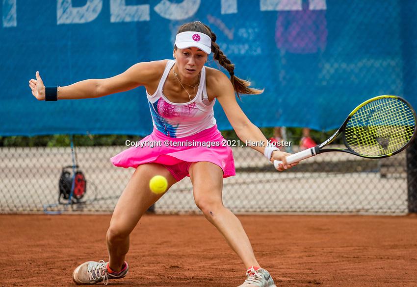 Amstelveen, Netherlands, 5  Juli, 2021, National Tennis Center, NTC, Amstelveen Womans Open, Amina Anshba (RUS)<br /> Photo: Henk Koster/tennisimages.com