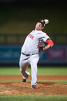 Surprise Saguaros pitcher Jamie Callahan (46), of the Boston Red Sox organization, during a game against the Salt River Rafters on October 21, 2016 at Salt River Fields at Talking Stick in Scottsdale, Arizona.  Salt River defeated Surprise 3-2.  (Mike Janes/Four Seam Images)