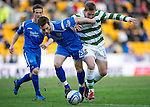 St Johnstone v Celtic.....12.04.11.Alan Maybury and Kris Commons.Picture by Graeme Hart..Copyright Perthshire Picture Agency.Tel: 01738 623350  Mobile: 07990 594431