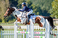 NZL-Saidie-J Douglas rides Lone. Class 24: Horse 1.00m Ranking Class. 2021 NZL-Easter Jumping Festival presented by McIntosh Global Equestrian and Equestrian Entries. NEC Taupo. Saturday 3 April. Copyright Photo: Libby Law Photography