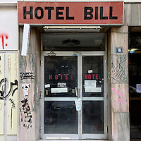 A closed down hotel on Episkopou Amvrosiou Street.