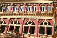 Myanmar, Burma, Yangon.  Supreme Court Architectural Detail.