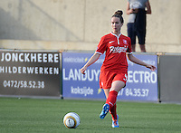 20140606 - Koksijde , BELGIUM : Twente's Kirsten Bakker pictured during the soccer match between the women teams of Club Brugge Vrouwen  and FC Twente Vrouwen  , on the 30th matchday of the BeNeleague competition on Friday 6th June 2014 in Koksijde .  PHOTO DAVID CATRY