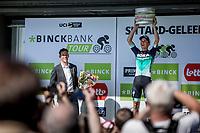 stage winner Gregor Mühlberger (AUT/Bora Hansgrohe) <br /> <br /> Binckbank Tour 2018 (UCI World Tour)<br /> Stage 6: Riemst (BE) - Sittard-Geleen (NL) 182,2km