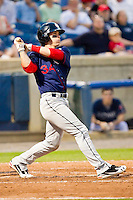Bryce Harper #34 of the Hagerstown Suns follows through on his swing after hitting a solo home run against the Rome Braves at State Mutual Stadium on April 30, 2011 in Rome, Georgia.   Photo by Brian Westerholt / Four Seam Images