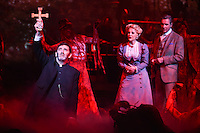 """Jimmy Nail, Heidi Range and Michael Praed<br /> in the musical of """"The War of the Worlds"""" at the Dominion Theatre, London.<br /> <br /> <br /> ©Ash Knotek  D3083 12/02/2016"""