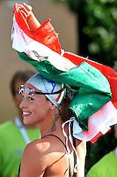 Federica Pellegrini (ITA) 200m freestyle gold medal - Federica Pellegrini (ITA) medaglia d'oro 200m stile libero<br /> Swimming European Championships Budapest 2010 - Campionati Europei di Nuoto Budapest 2010<br /> Swimming finals - Finali di nuoto<br /> Budapest (Hungary), 14/08/2010<br /> © Giorgio Perottino /Insidefoto