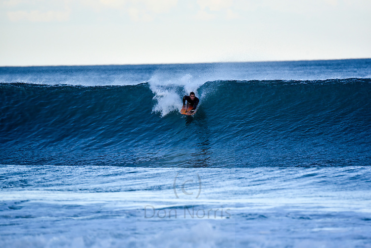 Late afternoon and thumping 2 metre east swell at about 8-9 seconds apart