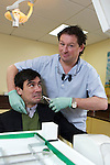 Pix: Shaun Flannery/shaunflanneryphotography.com...COPYRIGHT PICTURE>>SHAUN FLANNERY>01302-570814>>07778315553>>..15th January 2010...........The Forum, Gainsborough..Dentist Keith Jackson pictured with Emmerdale actor Jeff Hordley (Cain Dingle)