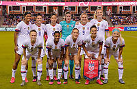 HOUSTON, TX - FEBRUARY 03: USWNT starting eleven vs Costa Rica during a game between Costa Rica and USWNT at BBVA Stadium on February 03, 2020 in Houston, Texas.