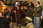 The Bampton Mummers performing Christmas Eve. Bampton Oxfordshire.   UK 2008.