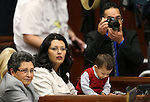 Nevada Assemblywoman Olivia Diaz, D-North Las Vegas, and her family members watch the opening day events of the 77th Legislative Session in Carson City, Nev. on Monday, Feb. 4, 2013. .Photo by Cathleen Allison