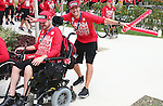 Rio 2016.<br /> The flag raising welcome ceremony for Canada in the Paralympic Village // Cérémonie d'accueil de lever du drapeau du Canada au village paralympique. 05/09/2016.