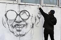 - Milano, febbraio 2019, viene ripristinato il ritratto di Franca Rame dipinto sul muro del liceo Agnesi, vandalizzato da mano fascista alcune notti prima.<br /> <br /> - Milan, February 2019, is restored the portrait of Franca Rame painted on the wall of Agnesi high school, vandalized by fascist hands a few nights before.