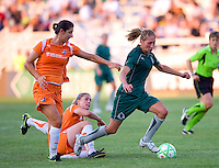 Saint Louis Athletica midfielder Amanda Cinalli (15) and Sky Blue FC midfielder Yael Averbuch (10) during a WPS match at Anheuser Busch Soccer Park, in St. Louis, MO, July 22 2009. Athletica won the match 1-0.