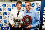 St Johnstone FC Players Awards Night...01.05.11  Lovatt Hotel Perth..Murray Davidson who won the SJFC Business Club Player of the Year award and Steven Anderson who was the Murton Park Travel Club Player of the Year.Picture by Graeme Hart..Copyright Perthshire Picture Agency.Tel: 01738 623350  Mobile: 07990 594431