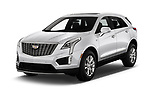 2020 Cadillac XT5 Premium-Luxury 5 Door SUV Angular Front automotive stock photos of front three quarter view