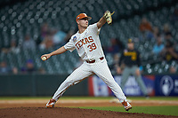 Texas Longhorns relief pitcher Kolby Kubichek (39) in action against the Missouri Tigers in game eight of the 2020 Shriners Hospitals for Children College Classic at Minute Maid Park on March 1, 2020 in Houston, Texas. The Tigers defeated the Longhorns 9-8. (Brian Westerholt/Four Seam Images)