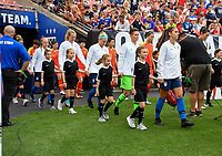 Cleveland, Ohio - Tuesday June 12, 2018: USWNT walk out during an international friendly match between the women's national teams of the United States (USA) and China PR (CHN) at FirstEnergy Stadium.