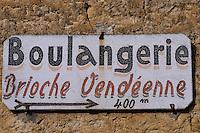 Europe/France/Pays de la Loire/85/Vendée/Nieul-sur-l'Autise: Détail enseigne d'une boulangerie