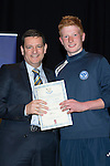 St Johnstone FC Youth Academy Presentation Night at Perth Concert Hall..21.04.14<br /> Chairman Steve Brown presents to Euan O'Reilly<br /> Picture by Graeme Hart.<br /> Copyright Perthshire Picture Agency<br /> Tel: 01738 623350  Mobile: 07990 594431