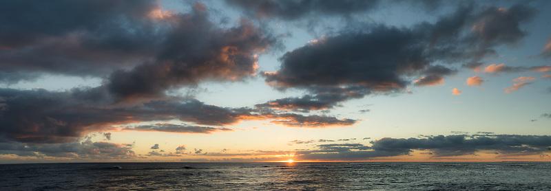 Sunset off coat at Poipu, Kauai, Hawaii.