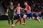 Atletico de Madrid's Saul Niguez and Juventus' Mario Mandzukic during UEFA Champions League match, Round of 16, 1st leg between Atletico de Madrid and Juventus at Wanda Metropolitano Stadium in Madrid, Spain. February 20, 2019. (ALTERPHOTOS/A. Perez Meca)