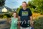 John Galvin with his grand daughter Robyn winners of the this weeks Staycation.