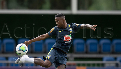 10th November 2020; Granja Comary, Teresopolis, Rio de Janeiro, Brazil; Qatar 2022 qualifiers; Vinicius Jr. of Brazil during training session in Granja Comary
