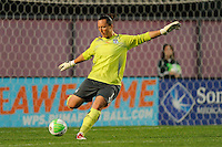 Chicago Red Stars goalkeeper Jillian Loyden (1). Sky Blue FC defeated the Chicago Red Stars 1-0 in a Women's Professional Soccer (WPS) match at Yurcak Field in Piscataway, NJ, on April 11, 2010.